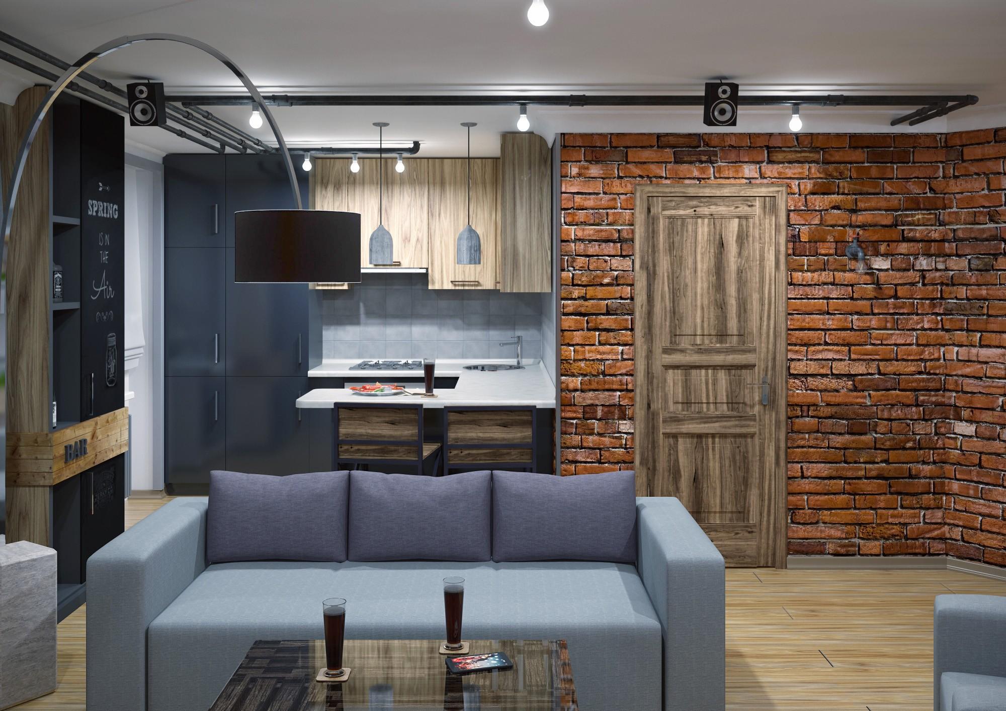 лофт в маленькой квартире фото дизайн