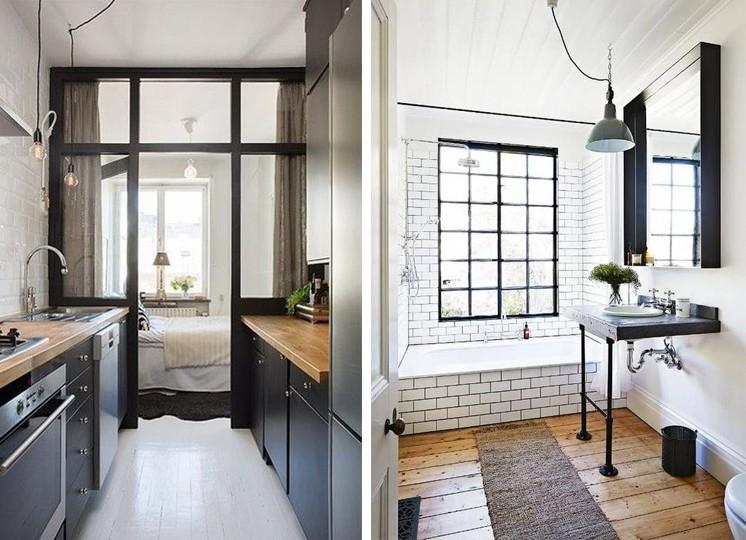 лофт для маленькой квартиры фото интерьер