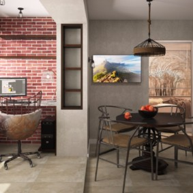 лофт в маленькой квартире идеи декор