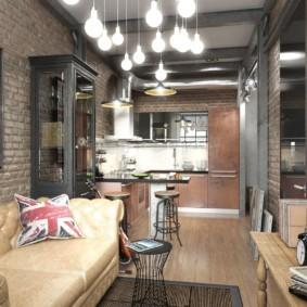 лофт в маленькой квартире идеи дизайн