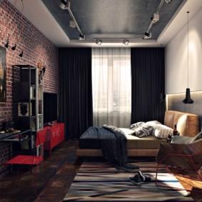 лофт в маленькой квартире идеи дизайна