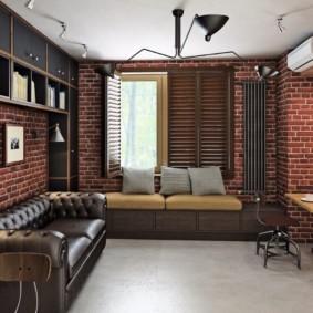 лофт в маленькой квартире идеи интерьер