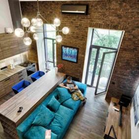 лофт в маленькой квартире идеи интерьера