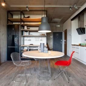 лофт в маленькой квартире интерьер