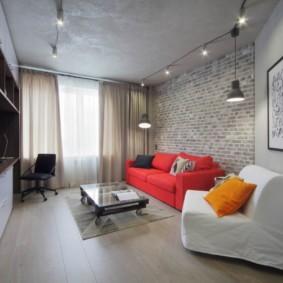 лофт в маленькой квартире интерьер дизайн