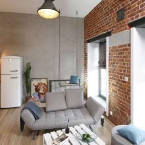 лофт в маленькой квартире оформление