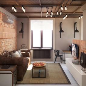 лофт в маленькой квартире варианты