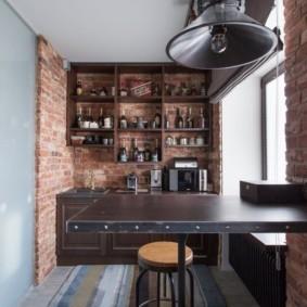 лофт в маленькой квартире варианты декора