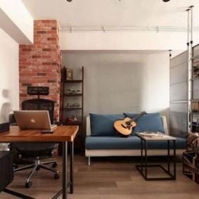 лофт в маленькой квартире варианты интерьера
