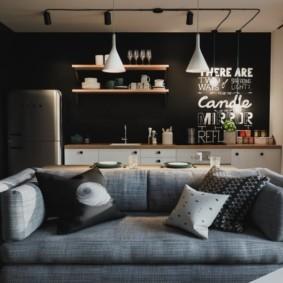 лофт в маленькой квартире виды дизайна