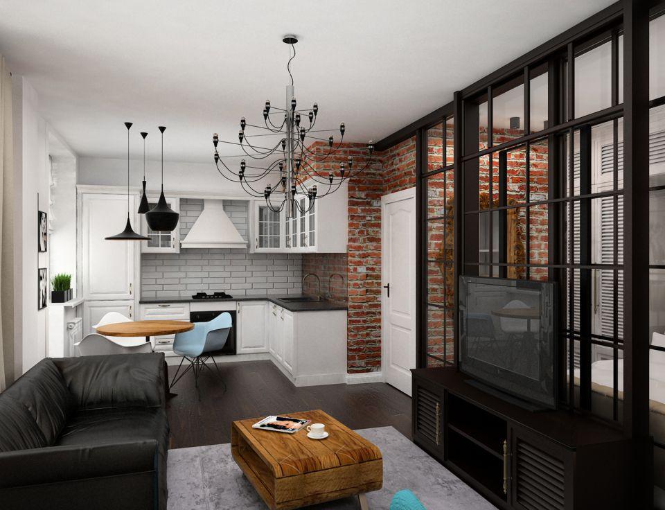 лофт для маленькой квартиры виды интерьера