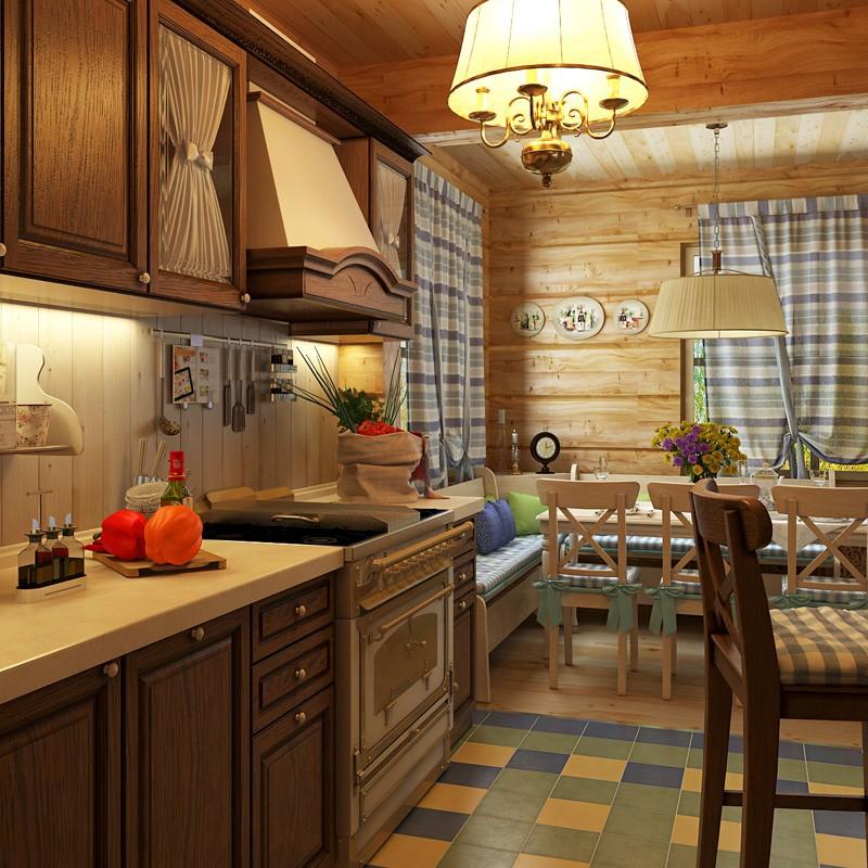 Люстра на кухне в стиле прованс