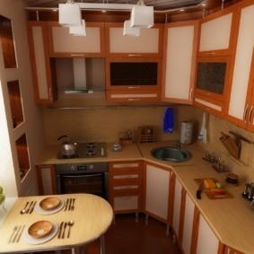 Кухонная мебель с рамочными фасадами