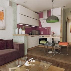 маленькая кухня гостиная декор