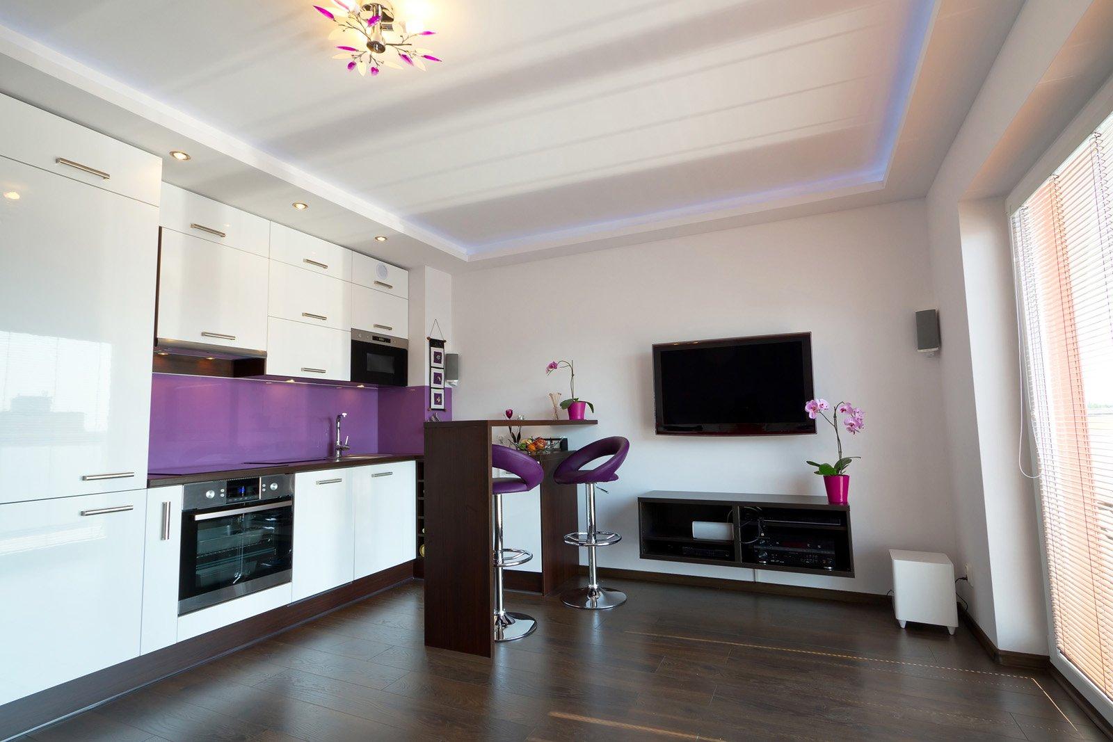 маленькая кухня гостиная дизайн идеи