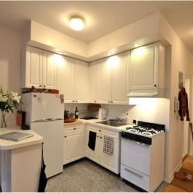 маленькая кухня гостиная фото декора
