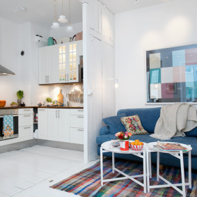 маленькая кухня гостиная идеи декор