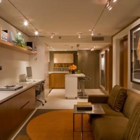 маленькая кухня гостиная идеи декора