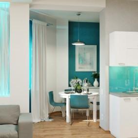маленькая кухня гостиная идеи дизайна