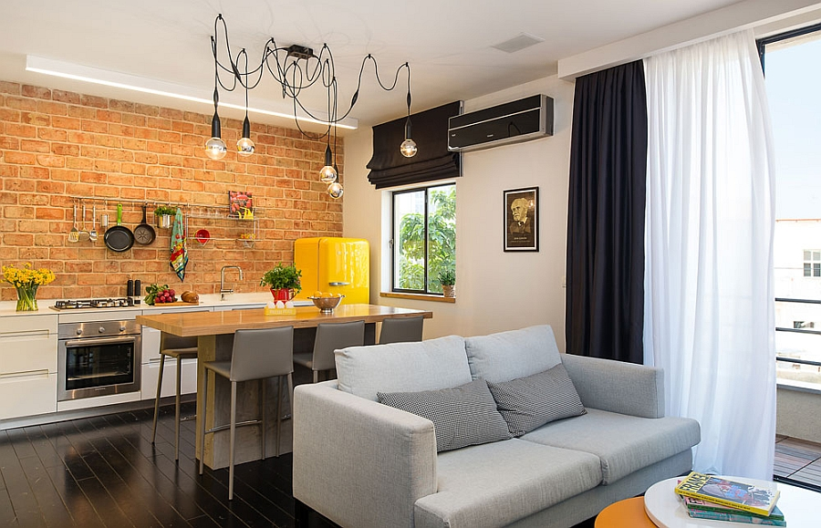 маленькая кухня гостиная интерьер