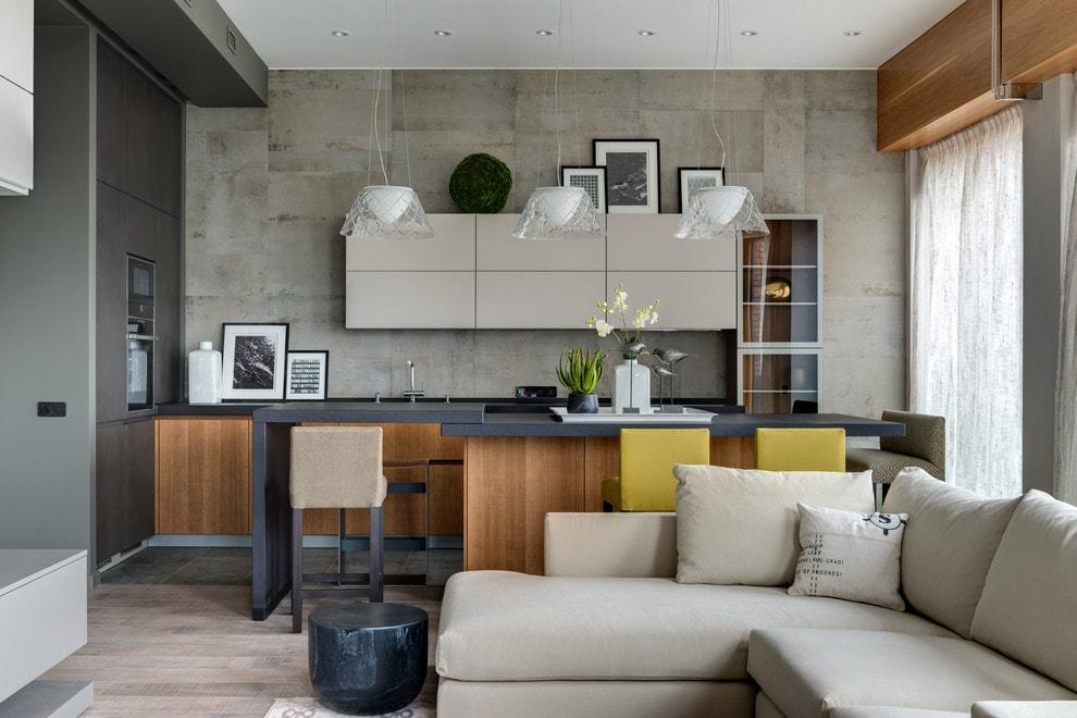 маленькая кухня гостиная декор идеи