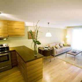 маленькая кухня гостиная фото декор