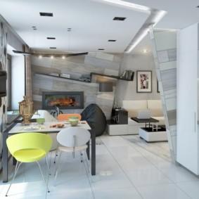 маленькая кухня гостиная фото оформление
