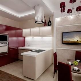 маленькая кухня гостиная фото оформления