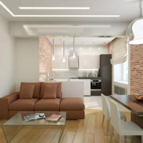 маленькая кухня гостиная фото вариантов