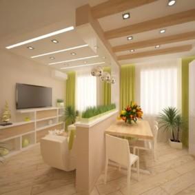 маленькая кухня гостиная фото видов