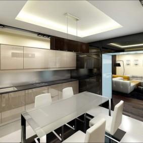 маленькая кухня гостиная идеи оформление