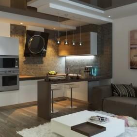 маленькая кухня гостиная идеи варианты