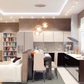 маленькая кухня гостиная идеи видов