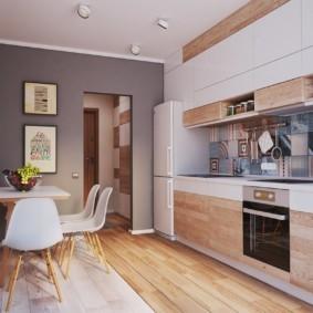 маленькая кухня гостиная оформление идеи