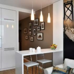 маленькая кухня гостиная варианты фото