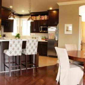 маленькая кухня гостиная варианты идеи