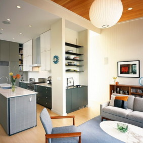 маленькая кухня гостиная виды