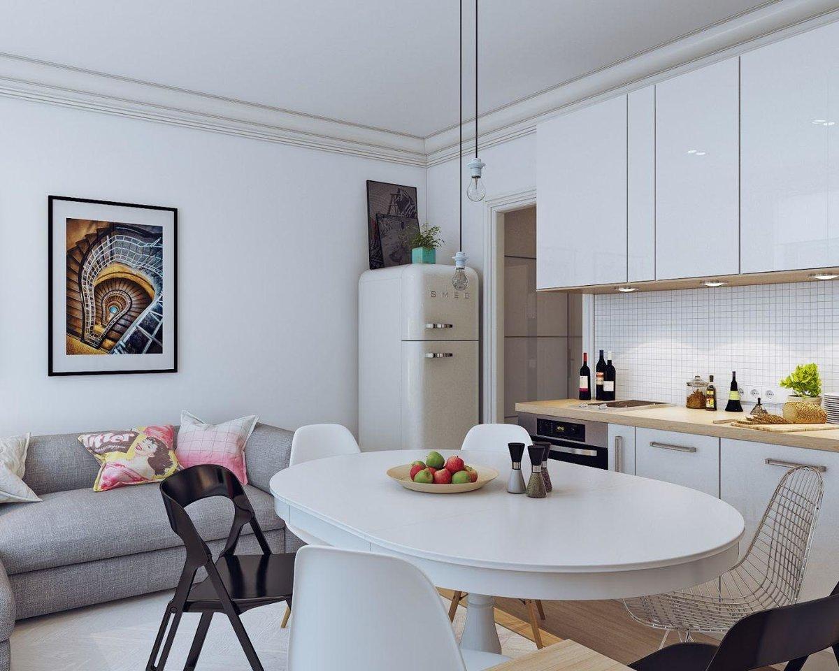 маленькая кухня гостиная виды фото