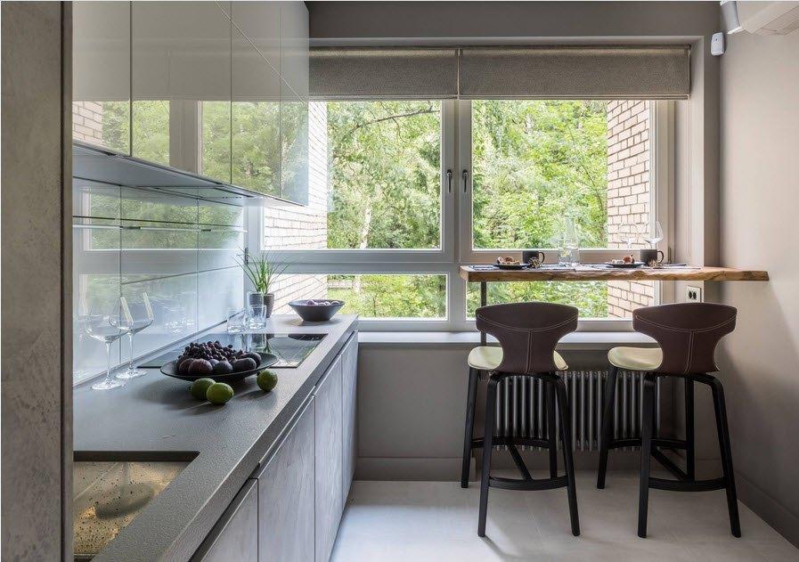 маленькая кухня с кухонным столом фото декор