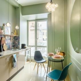 маленькая кухня с кухонным столом фото варианты