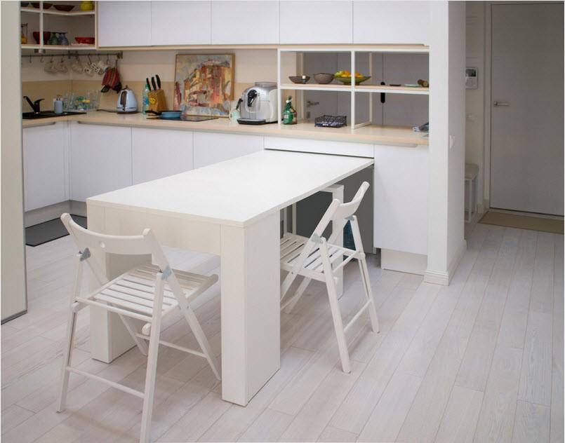 маленькая кухня с кухонным столом фото видов