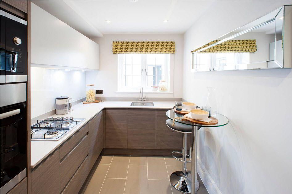 маленькая кухня с кухонным столом идеи видов