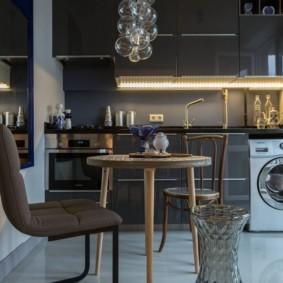 маленькая кухня с кухонным столом варианты фото