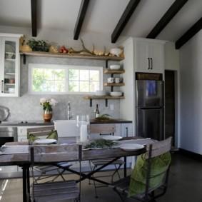 маленькая кухня с кухонным столом варианты идеи
