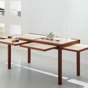 маленькая кухня с кухонным столом идеи декор