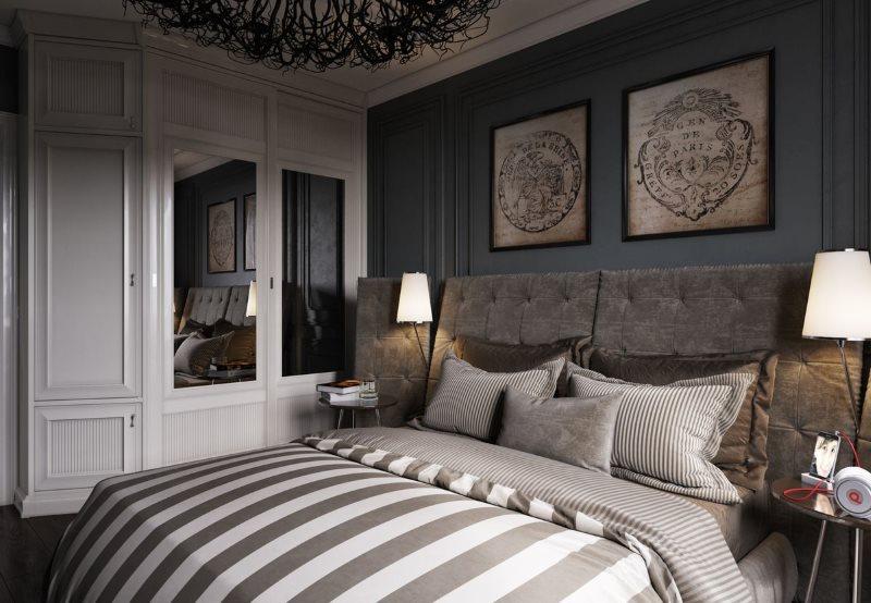Компактная спальня в стиле арт деко