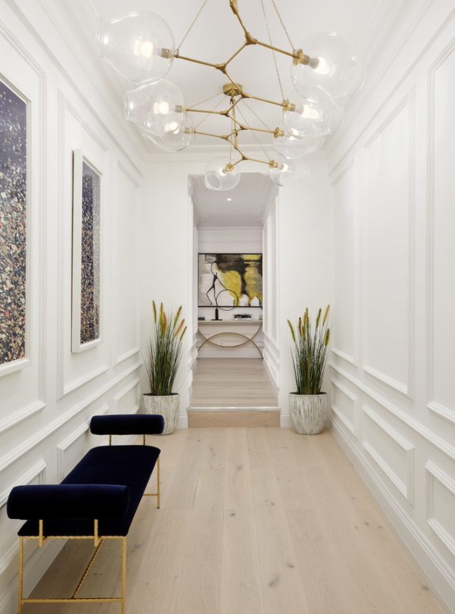 длинный коридор прихожая фото