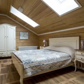 дизайн спальни 12 кв м мансарда