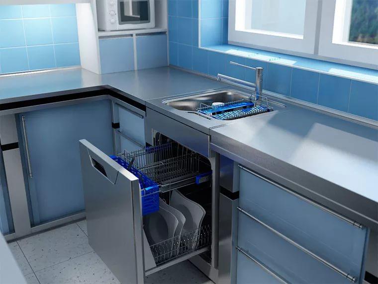 Посудомоечная машинка под кухонной мойкой