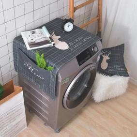 Накидка с карманами для стиральной машины